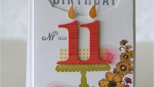 Birthday Card 11 Yr Old Girl Notable Nest Girl 39 S 11th Birthday Pti Blog Hop