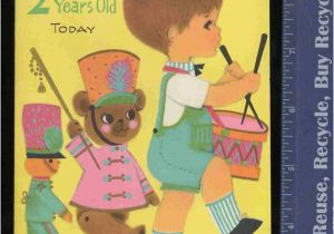 Birthday Card 2 Year Old Boy Vintage Greeting By
