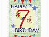 Birthday Card 7 Year Old Boy Children 39 S Birthday Card Boy 7 Years Old Zazzle Com