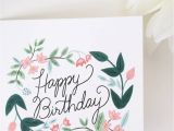 Birthday Card and Flowers Delivery 39 Happy Birthday 39 Floral Card by sonni Blush Paper Co