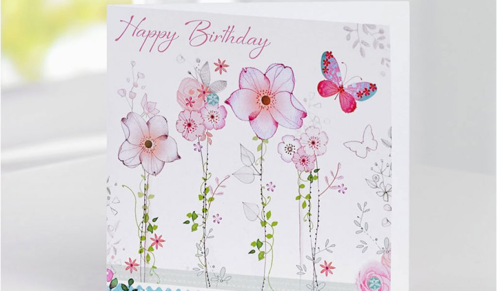 Birthday Card And Flowers Delivery Greeting