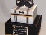 Birthday Card Boxes for Parties Little Gentleman Mustache theme Baby Shower Birthday Card