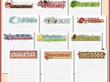 Birthday Card Calendar organizer Annual Birthday Calendar Yearly Date organizer