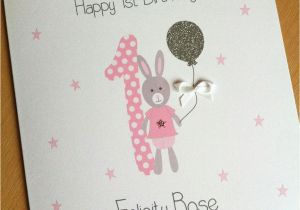 Birthday Card Delivery Uk Handmade Personalised 1st Girls First Fast