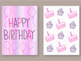 Birthday Card Designer Free Free Happy Birthday Card Vector Download Free Vector Art