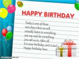 Birthday Card Emails Birthday Wishes for Boss Wishes Greetings Pictures
