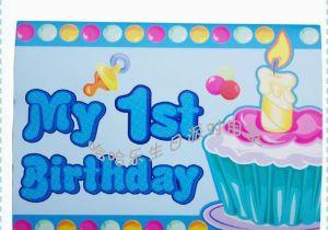 Birthday Card For 1 Year Old Boy 10 Pcs Lot Happy Decoration Cartoon Invitation