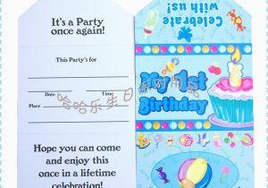 Birthday Card For 1 Year Old Boy Invitation 10 Best