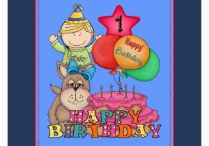 Birthday Card For 1 Year Old Boy Happy Wishes One Page 3