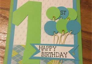 Birthday Card For 1 Year Old Boy One Little Cards And