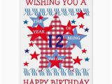 Birthday Card for 12 Year Old Boy Children 39 S Star Birthday Card Boy 12 Years Old Zazzle Com