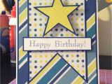 Birthday Card for 12 Year Old Boy Pink and Paper Star Birthday Card