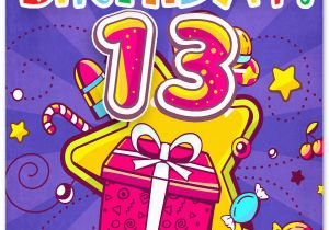 Birthday Card for 13 Year Old Girl Happy 13th Birthday Wishes for 13 Year Old Boy or Girl