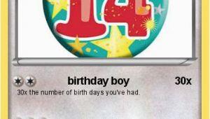 Birthday Card for 14 Year Old Boy Pokemon 14 Year Old Jayden Birthday Boy My Pokemon Card
