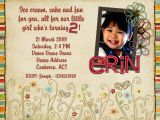 Birthday Card for 2 Year Old Baby Girl 2 Year Old Birthday Invitations Templates Free