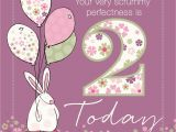 Birthday Card for 2 Year Old Baby Girl for A Special Baby Boy who is Two today From Rufus Rabbit