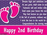 Birthday Card for 2 Year Old Baby Girl Second Birthday Poems Happy 2nd Birthday Poems