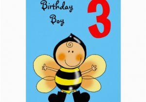 Birthday Card For 3 Year Old Boy Greeting Zazzle