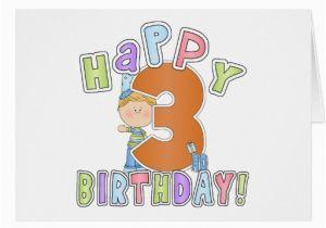 Birthday Card For 3 Year Old Boy Boys Happy 3rd Greeting Cards Zazzle