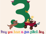 Birthday Card for 3 Year Old Boy On Your 3rd Birthday Free for Kids Ecards Greeting Cards