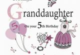 Birthday Card for 5 Year Old Granddaughter 52 5th Birthday Wishes