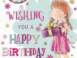 Birthday Card for 5 Year Old Granddaughter Granddaughter 5th Birthday Card Badge 5 today Girl