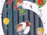 Birthday Card for 6 Year Old Boy Biglietto Per Auguri Di Compleanno Per Bambino 6 Anni