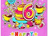 Birthday Card for 6 Year Old Boy Happy 6th Birthday Wishes for 6 Year Old Boy or Girl