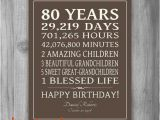 Birthday Card for 80 Year Old Woman Birthday Card for 80 Year Old Woman New 80th Birthday Gift