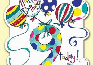 Birthday Card For 9 Year Old Boy Today Balloons Karenza Paperie