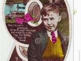 Birthday Card for 9 Year Old Boy Antique Postcard Greeting Card 9 Years Old Boy Editorial