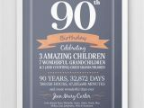 Birthday Card for 90 Year Old Man Personalized 90th Birthday Print Seventy Years Old Gift