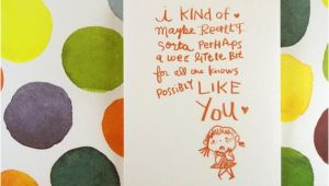 Birthday Card for A Girl You Like Items Similar to I Kind Of Like You Girl Greeting Card