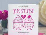 Birthday Card for A Good Friend Best Friend Birthday Card 39 Besties 39 by Lisa Marie Designs
