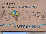 Birthday Card for A Good Friend Birthday Card for Best Friends with Name