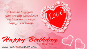Birthday Card for A Wife I Love to Hug You Birthday Greeting Card for Wife