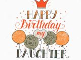 Birthday Card for Daughter Free Download Color Vector Birthday Card for Daughter Stock Vector