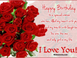 Birthday Card for Fiance Female Sweet Happy Birthday Wishes for Girlfriend