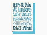 Birthday Card for Fiance Male Boyfriend Birthday Card Happy Birthday to My Handsome