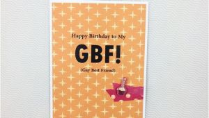 Birthday Card for Gay Friend Gay Best Friend Birthday Card