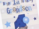Birthday Card for Grandson 1st Birthday Hugs 1st Birthday Card Grandson Only 1 49