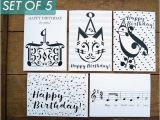 Birthday Card for Musician Music Birthday Cards Variety Pack Of 5 Music Note Birthday