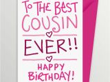 Birthday Card for My Cousin Cousin Birthday Card by A is for Alphabet