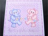 Birthday Card for My Twin Sister to My Twin Sister Elephants Birthday Card Twin Girls or