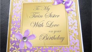 Birthday Card for My Twin Sister to My Twin Sister with Love Birthday Card 4 Colours Ebay