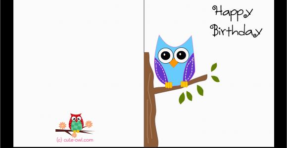 Birthday Card for Printing Free Printable Cute Owl Birthday Cards