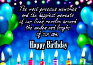 Birthday Card For Son From Mother Wishes Quotes And Messages
