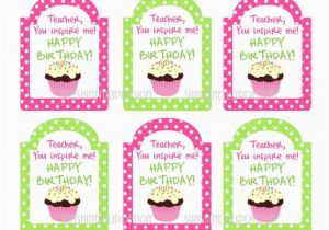 Birthday Card For Teacher Printable Diy Appreciation Tags By