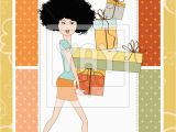 Birthday Card for Young Lady Royalty Free Vector Of Birthday Card Pretty Young Lady
