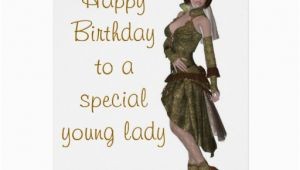 Birthday Card for Young Lady Steampunk Fashion Birthday Card for Young Lady Zazzle